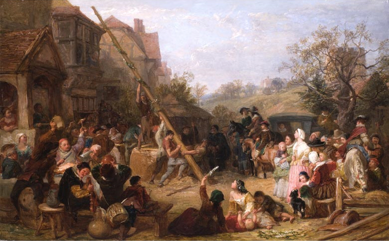 Frederick_Goodall_Raising_the_Maypole