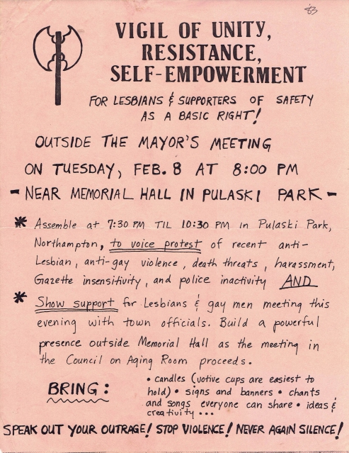 feb 8 1982 vigil flyer