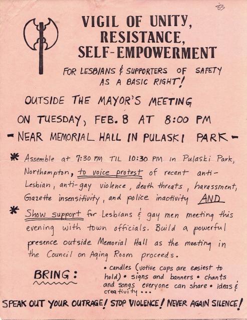 feb 8 1982 vigil flyer
